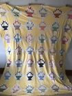 Vintage 1930s Baskets Quilt Top - Feed Sack - Hand Stitched