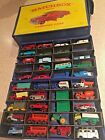 MATCHBOX LESNEY England 1965 CASE FULL OF CARS DIE CAST VINTAGE ALL INCLUDED