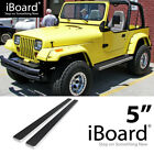 Running Board Side Step Nerf Bars 5in Silver Fit Jeep Wrangler TJ YJ 2Dr 87 06