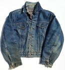 Vintage 60s Big E LEVIS Lined Aged Denim 525 Trucker Jean Jacket L