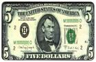 $5. Bill USA Currency (Miniature) With Abraham Lincoln Phone Card