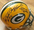 Paul Hornung Jim Taylor Donny Anderson signed auto Green Bay Packers game helmet