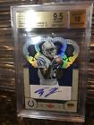 2012 T.Y. HILTON CROWN ROYAL SILVER HOLOFOIL RC 1 25 AUTO BGS 9.5 10 1 1