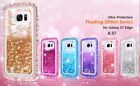 Samsung Galaxy S7 and S7 Edge Liquid Glitter Bling Quicksand Clear Defender Case