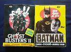 2 Box Lot 1989 Topps Ghost Busters II & Batman 2nd Series Trading Cards Boxes