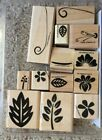 2002 Stampin Up Two Step Stamp Set Tropical Blossoms Set of 13 Cut but New