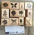 2001 Stampin Up Two Step Stamp Set Watercolor Minis Set of 12