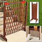 Expanding Portable Fence Wooden Screen Gate Kid Safety Dog Pet Patio Garden Lawn