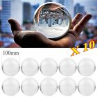 LOT 10 PC 4 Clear Round Glass Artificial Crystal Ball Sphere Decoration Gift AK