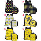 Banana Pineapple Printed Backpack 2 pcs School Bags Set with Lunch Bag for Kids