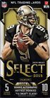 2014 Select Football sealed hobby box 10 packs of 5 NFL cards 4 hits