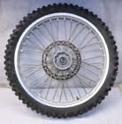 1990 SUZUKI RM125  FRONT WHEEL ASSEMBLY (RIM CRACKED) $60 FOR HUB ONLY