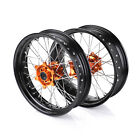 Supermoto 17*3.5 17*5.0 Complete Wheel Hubs Set For KTM SX SXF EXC 125-530 03-14