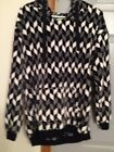 Vear Bradley Fleece Sweater Black and White Ladies Small SUMMER SALE PRICE!
