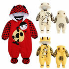 US Seller Infant Baby Boy Girl Winter Warm Romper Jumpsuit Hooded Outfit Clothes