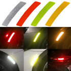 2X Set Reflective Warning Strip Tape Car Bumper Reflector Stickers Decals Safety