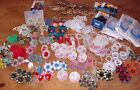 Huge Lot Antique Vintage Flower Curtain Pin Tie Backs Drapery Holder Hardware