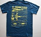 STAE WARS X- WING STARFIGHTER T Shirt (Graphic Tee) Blue Small Cotton Mens
