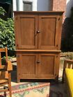 Antique Oak Cabinet Mission Americana Kitchen Closet Linen