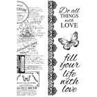 MEMORY LANE Collection Clear Unmounted Rubber Stamp Set Kaisercraft CS326 New