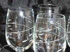 Vtg 4 Stemmed 6 oz. Crystal Dessert Wine Glasses   ~INTERLUDE~ Rock Sharpe Libby