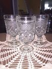 Set of 5 Anchor Hocking Wexford Stemmed Water/Wine Glasses