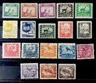 Bolivia Stamp Set Complete Sc 251-268 Used And Mint Hinged