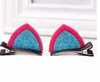 2pcs Girls Blue Toddler Hair Bow with Clips Kids Cat Ear Hair Accessories