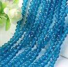 48pc DIY 6mm Faceted Rondelle Jewelry Bicone Crafts Glass Crystal Beads S608