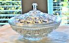 Cane Clear Decorative Covered Candy Dish