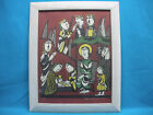 SADAO WATANABE NATIVITY JAPANESE STENCIL PRINT 1979 Signed Numbered 40 80