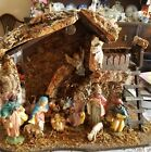 Vintage Manger Nativity Set Made in ITALY