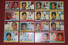 1955 TOPPS fill your set YOU PICK 5 CARDS from a lot of 102 EX ish ss