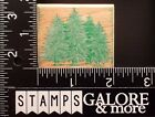 HERO ARTS USED RUBBER STAMPS E244 PINE TREES FOREST CHRISTMAS