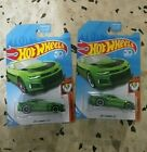 2 Hot Wheels SUPER Treasure Hunt 2017 CAMARO ZL1 Red Line Card Variation + Reg