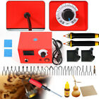 Multifunction Crafts Laser Wood Burning Pen Tool Pyrography Machine Set Kit Usa