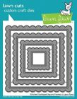 Lawn Fawn STITCHED SCALLOPED SQUARE FRAMES Lawn Cuts Die Set LF1720