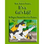 Stained Glass Pattern Book ITS A CATS LIFE Free Shipping