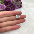 20pcs Made With Love Charm Tibetan Silver Bead Finding Jewellery Making 11x8mm
