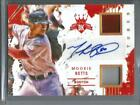 Mookie Betts 2016 Panini Diamond Kings Autograph Game Used Jersey #03 10