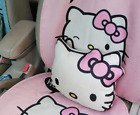 Universal Lovely Hello Kitty Pink Linen Blend Rest Cushion Seat Headrest Pillow