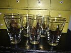 6 Midcentury Libbey Tree Leaf Gold Pattern Drinking Glasses  Hollywood Regency