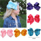 """6"""" 8"""" Inch Cute Girls Hair Bows Grosgrain Ribbon Knot Large With Clip 2018"""