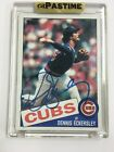 Dennis Eckersley No 163 Pastime On Card Auto