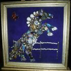 Vingage Jewelry Art Horse, over fence, signed
