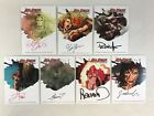 RED SONJA (Breygent 2012) COMPLETE ARTIST AUTOGRAPH CARD SET (ALL 7) from SDCC