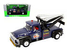 1956 Ford F 100 Wrecker Tow Truck Blue 1 18 Scale Diecast Model By Welly 19834