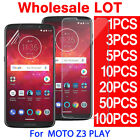 Tempered PET Soft Glass Screen Protector For Motorola Moto Z3 Play Droid LOT