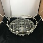 Vintage Clear Glass Cake Plate With Wire Carrier