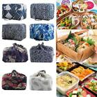 Portable Lunch Box Bento Carry Tote Picnic Case Drawstring Zipper Storage Bag